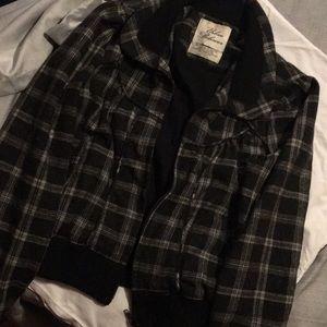 Black and gray jacket